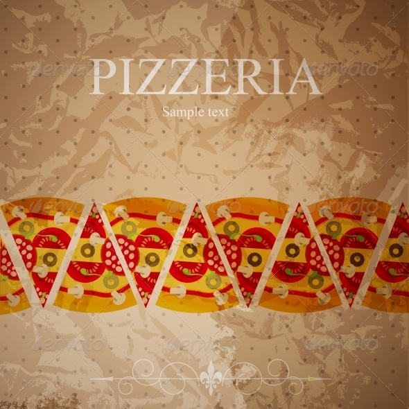 Pizza Menu Template, vector illustration - Backgrounds Decorative