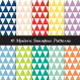 Triangle Patterns in Pantone 2013 Colors and White - GraphicRiver Item for Sale