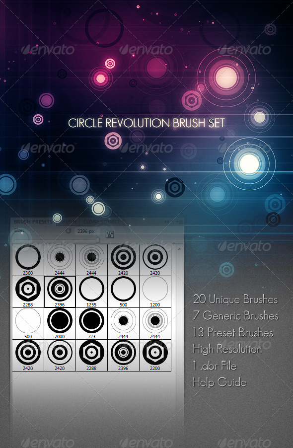 Circle Revolution Brush Set - Abstract Brushes