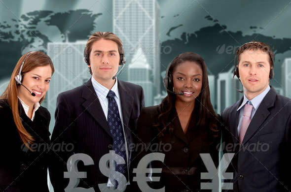 corporate call center - Stock Photo - Images