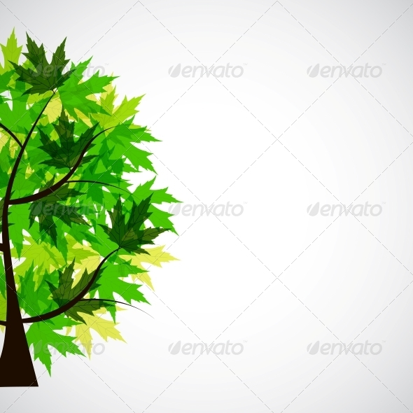 GraphicRiver Abstract Vector spring tree illustration 4035872