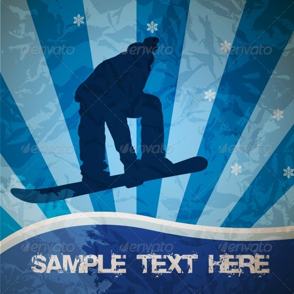 Snowboarding Vector - Backgrounds Decorative