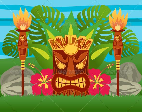 Tiki Statue - Characters Vectors