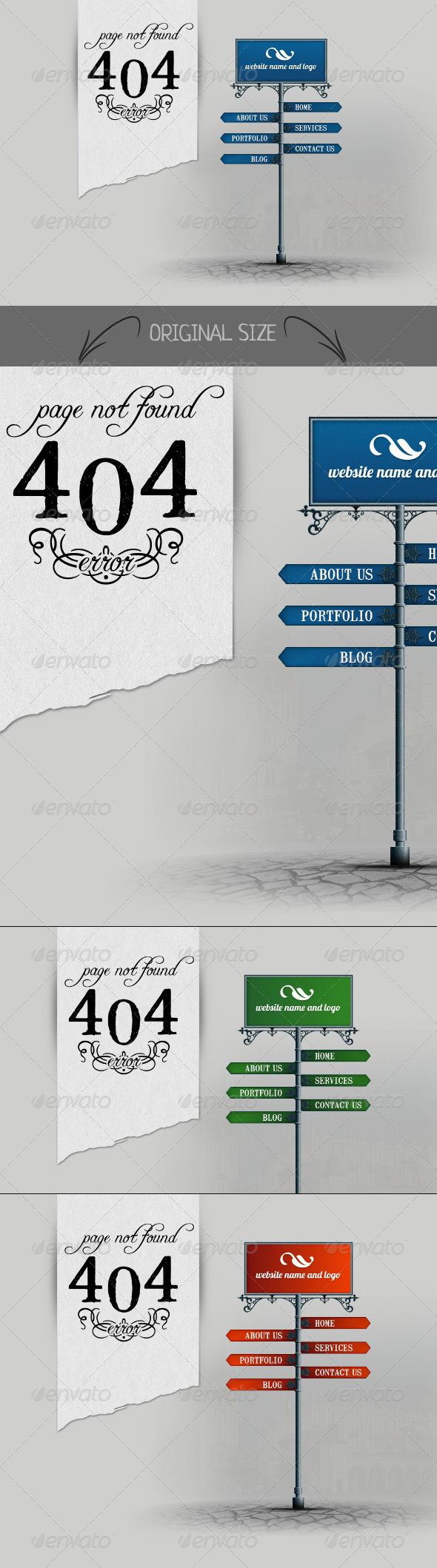 GraphicRiver 404 Signpost 4037185