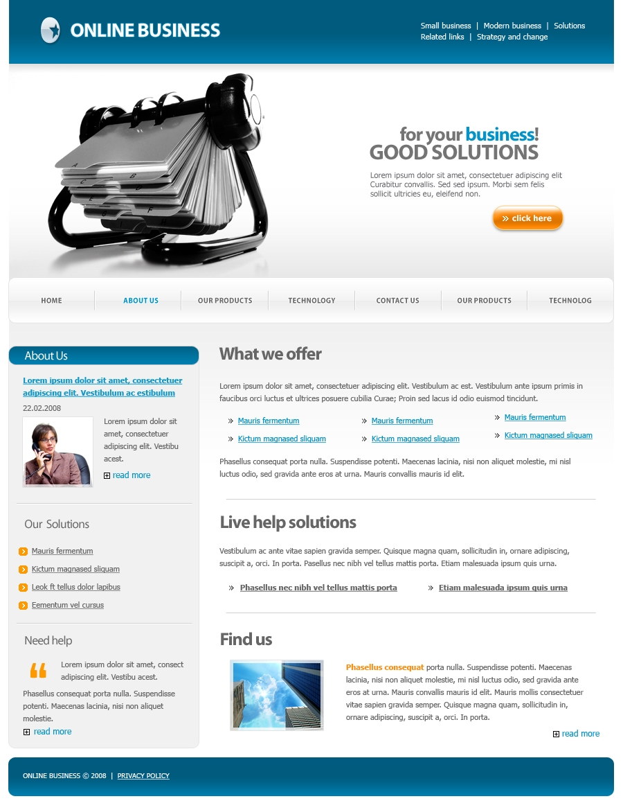 Online Business Template