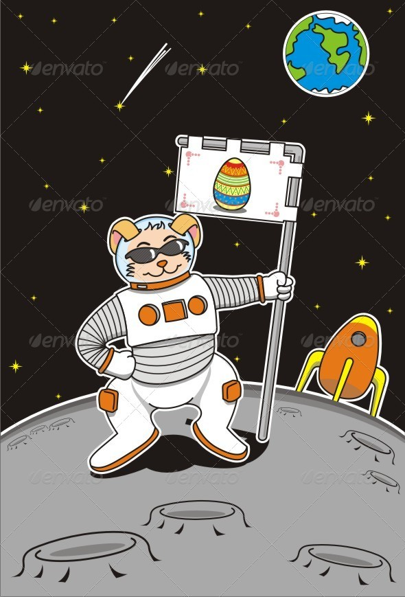 Giant Leap for Easter Bunnies - Seasons/Holidays Conceptual