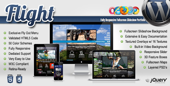 Flight - Responsive Fullscreen Background Theme - Portfolio Creative