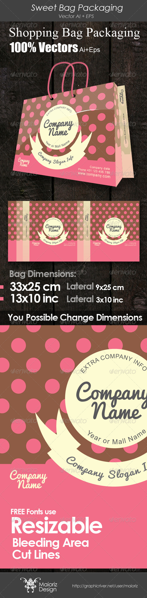 Sweet Bag Packaging - Packaging Print Templates