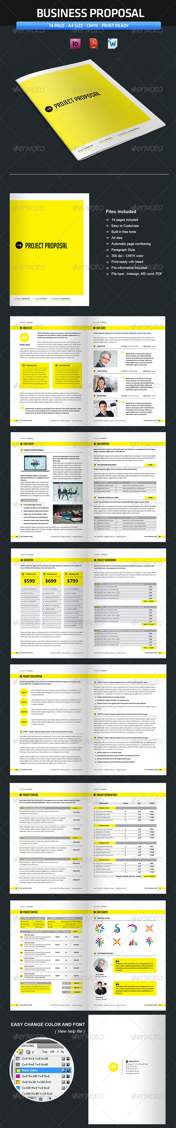 Proposal Template (Vol3) - Proposals & Invoices Stationery