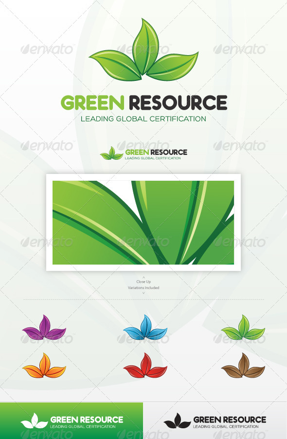 Green Resource Logo - Nature Logo Templates