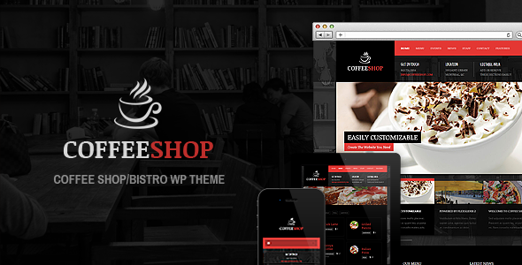 ThemeForest Coffee Shop Responsive WP Theme For Restaurant 4038168