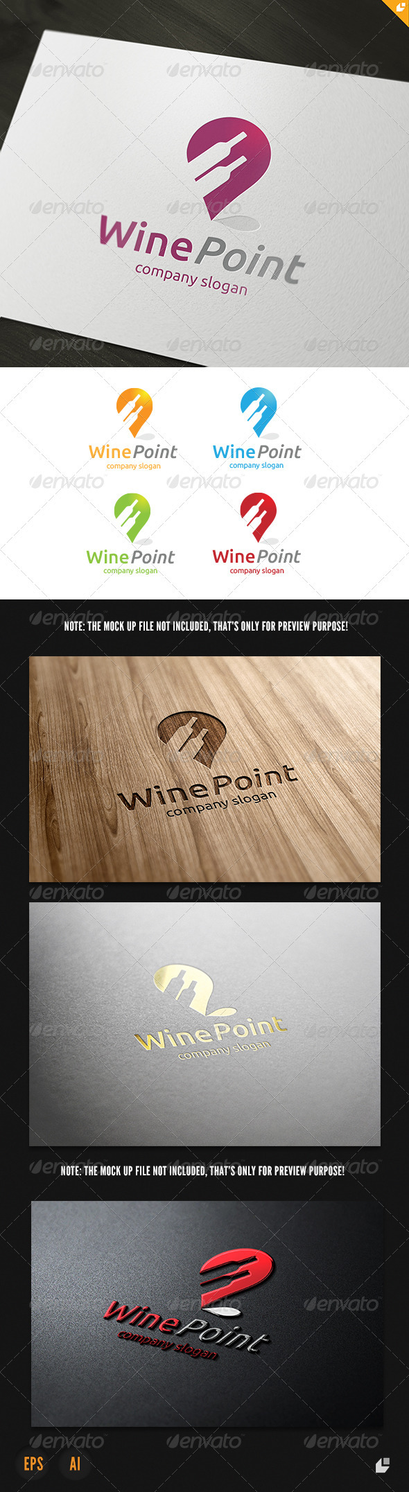 GraphicRiver Wine Point Logo 3905293