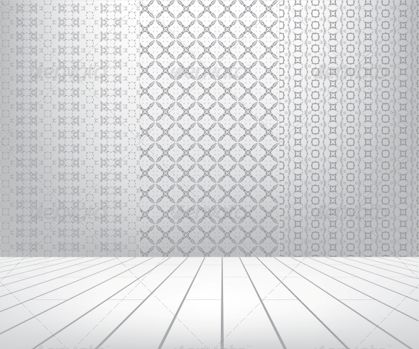 GraphicRiver White Room with Set Seamless and Wooden Floor 4038558