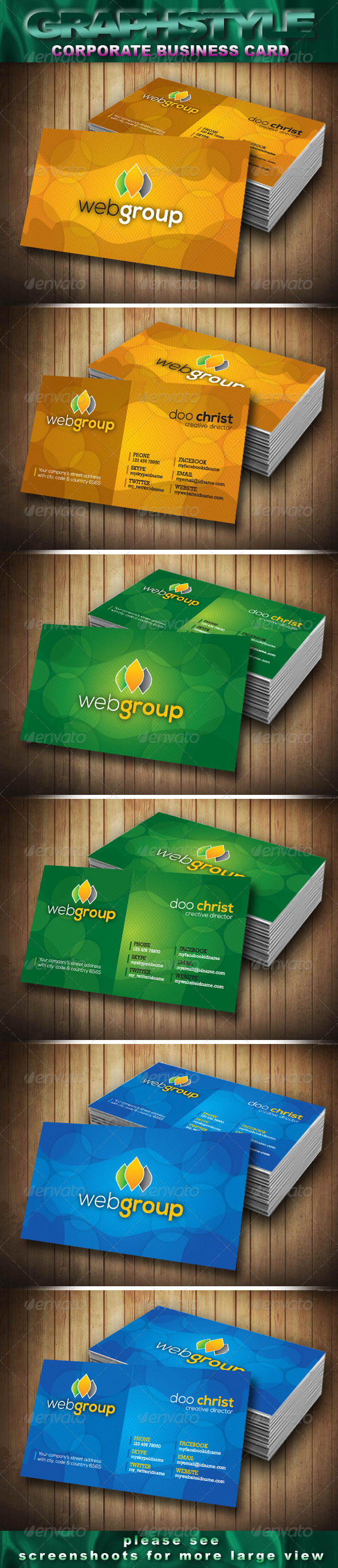 GraphicRiver Webgroup Corporate Business Card 3920831