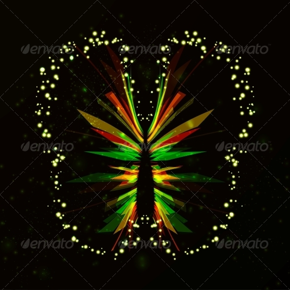 GraphicRiver Shiny Butterfly Abstract Vector 4040468