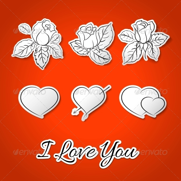 GraphicRiver I love you Valentine s Day 4040531