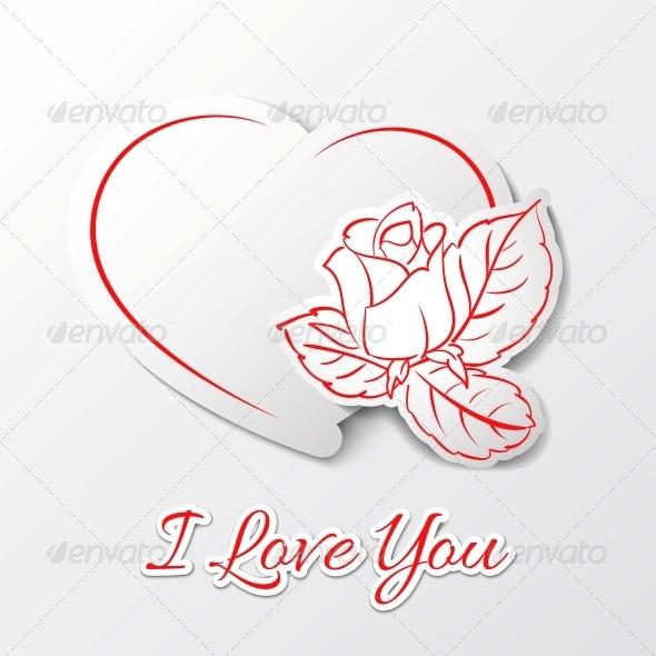 GraphicRiver I love you Valentine s Day 4040534