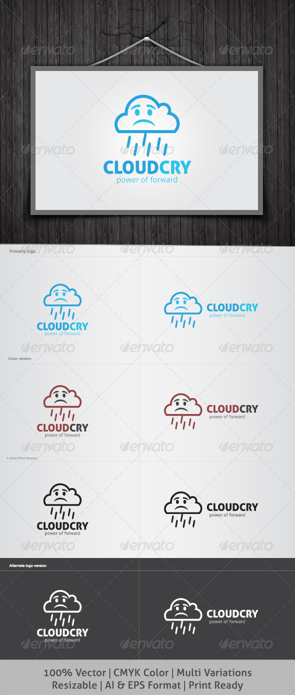 GraphicRiver Cloud Cry Logo 4040545