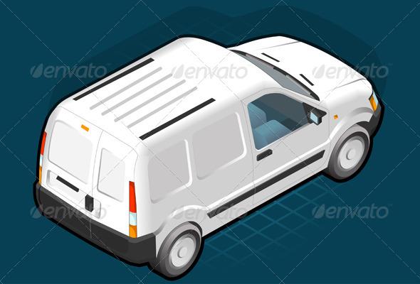 GraphicRiver Isometric White Van 4040657