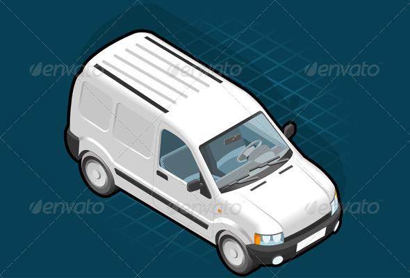GraphicRiver Isometric White Van 4040677