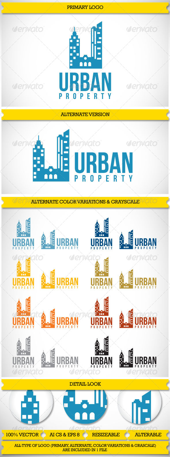 GraphicRiver Property Realty Urban logo 3875550