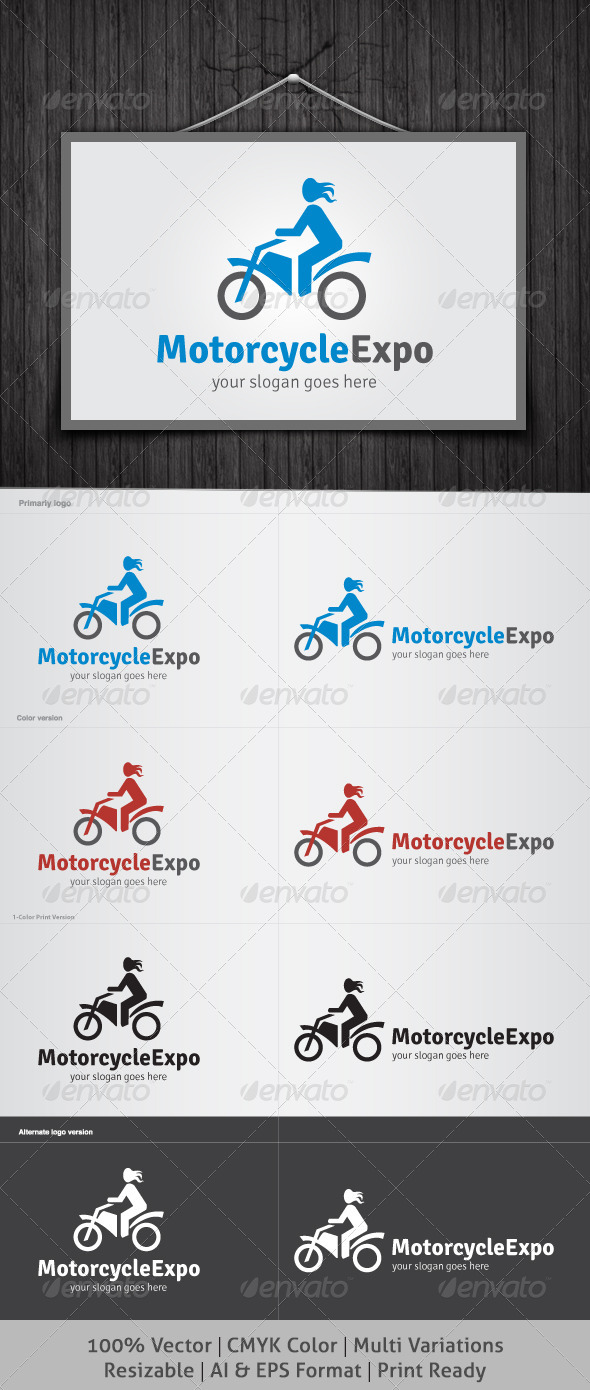 GraphicRiver Motorcycle Expo Logo 4040863