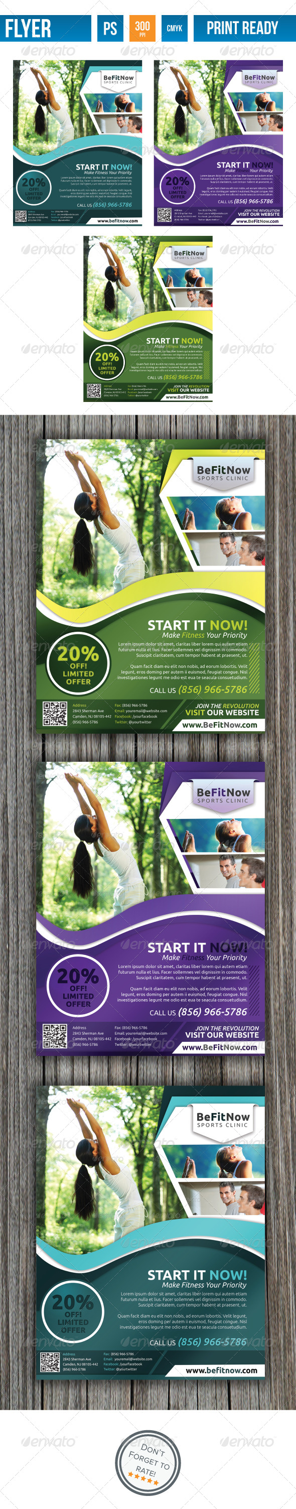 GraphicRiver Fitness Flyer V2 4041281