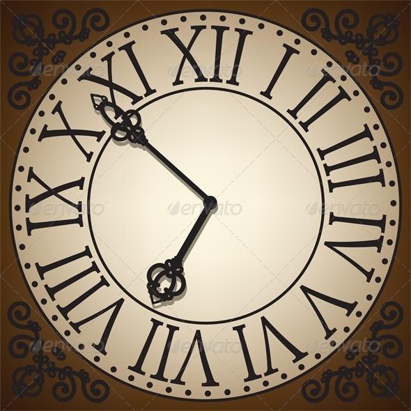 Antique Clock Face Template Antique clock face - retro