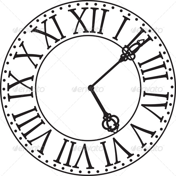 Antique Clock Face Tattoo Antique Clock Face Retro