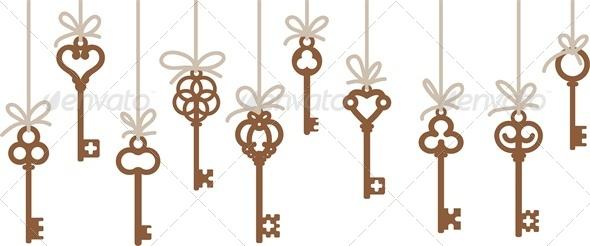 GraphicRiver Hanging Antique Skeleton Keys 4041301