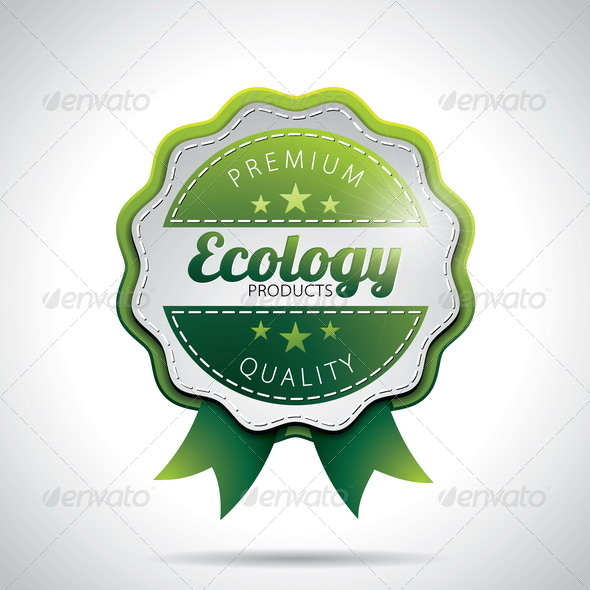 GraphicRiver Vector Ecology Product Labels Illustration 4041307