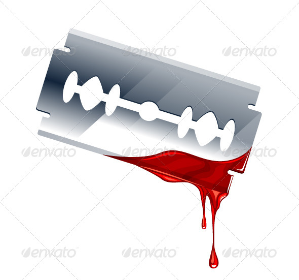 GraphicRiver Vector Illustration of Blade with Blood 4041308