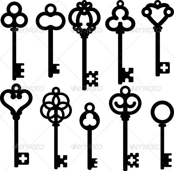 GraphicRiver Antique Skeleton Keys 4041312