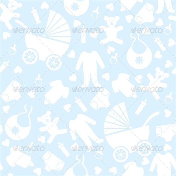 GraphicRiver Blue Baby Background for Baby Shower 4041320
