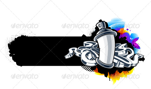 GraphicRiver Graffiti Image of Can with Arrows 4041325