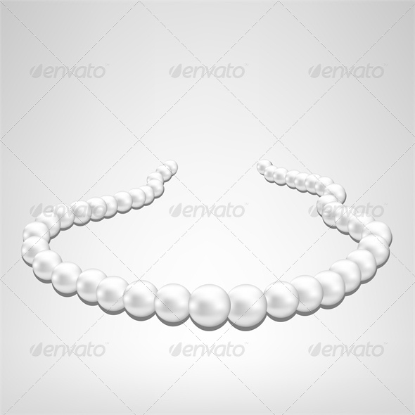GraphicRiver Pearl Necklace on Gray Background 4041327