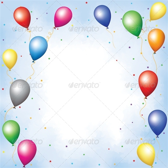 GraphicRiver Colourful Balloons and Confetti 4041457