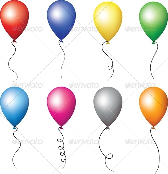 GraphicRiver Colourful Balloons for Holiday Decoration 4041464