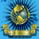 Download Vector Golden Globes on blue