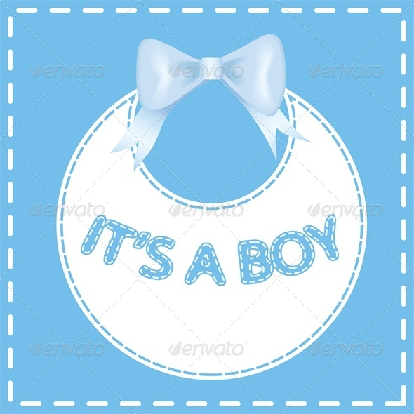 Baby shower invitation card It s a boy