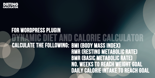CodeCanyon BMI and BMR calorie counter for Wordpress 4042280
