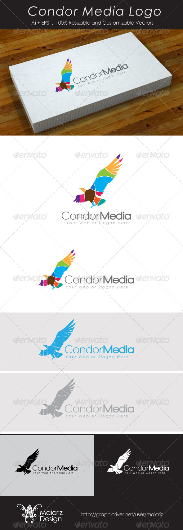 GraphicRiver Condor Media Logo 4042281