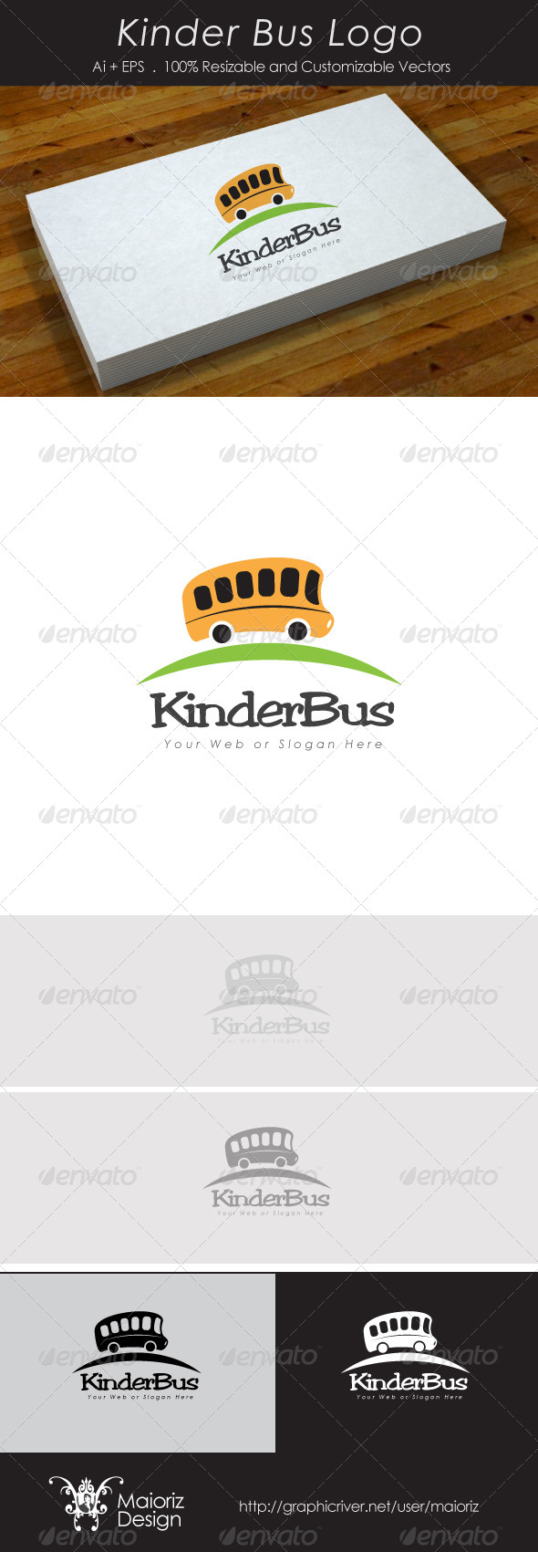 Kinder Bus Logo - Objects Logo Templates