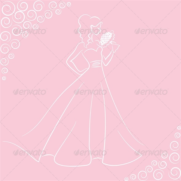 GraphicRiver Wedding Pink Card 4042576