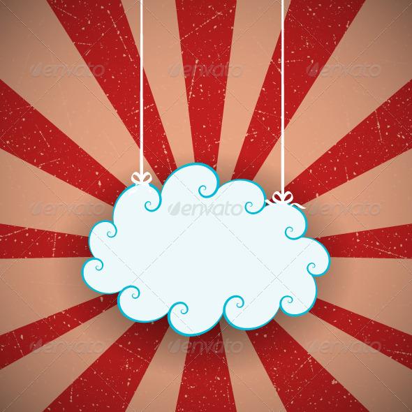 GraphicRiver Retro Cloud Background 4042589