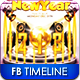 Happy New Year Timeline FB Cover - GraphicRiver Item for Sale