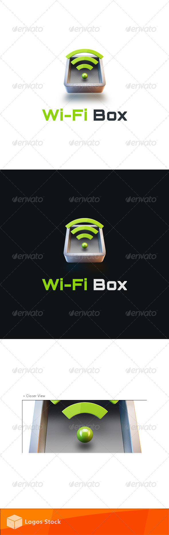 Technology Logo - WiFi Box