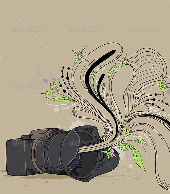 GraphicRiver Abstract Background with Camera 4042950