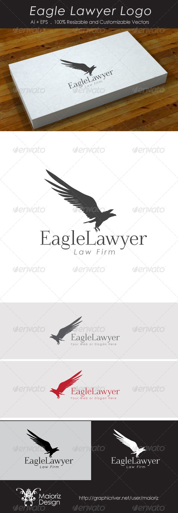 Eagle Lawyer Logo - Animals Logo Templates