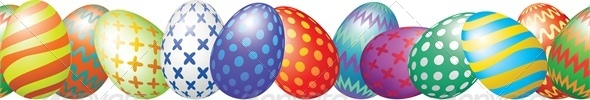 GraphicRiver Easter Eggs Border 4042957